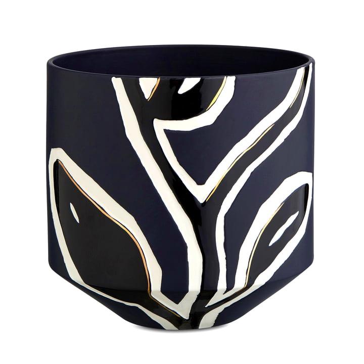 Kähler Design - Fiora Übertopf H 25 cm, mitternachtsblau