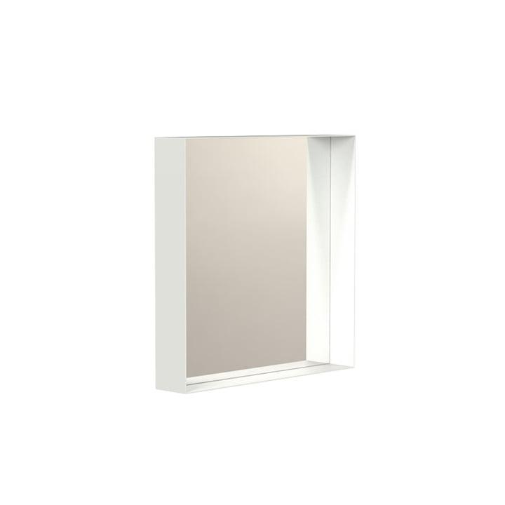 Unu Wandspiegel 4132 mit Rahmen, 40 x 40 cm, weiss von Frost