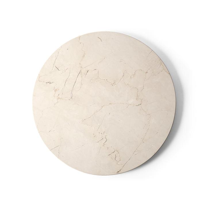 Tischplatte für Androgyne Beistelltisch Ø 42 cm von Menu in Marmor ivory