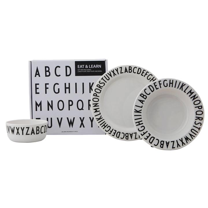 Melamingeschirr-Set Classic von Design Letters in weiss