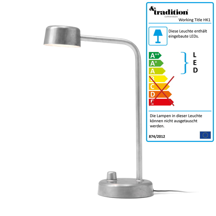 Working Title HK1 LED-Tischleuchte von &tradition -  Aluminium poliert