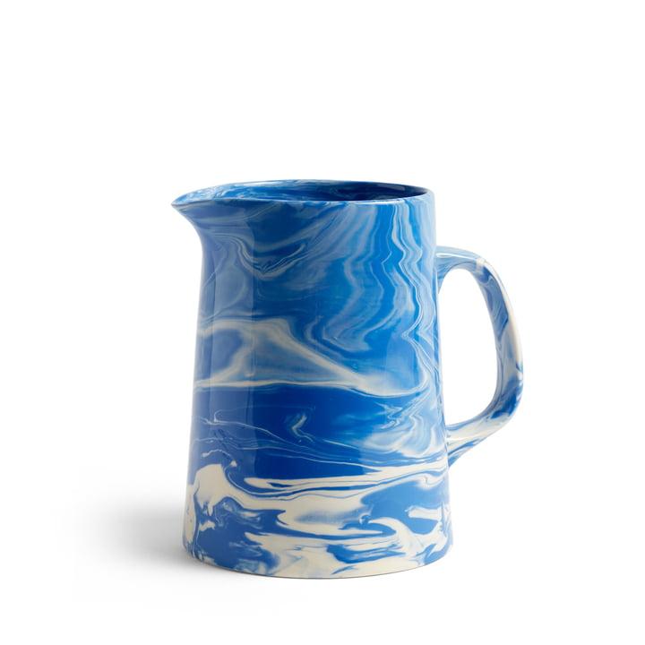 Marbled Jug Ø 16 x H 21 cm von Hay in blau