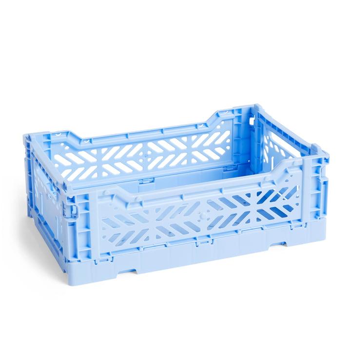 Colour Crate Korb S, 26,5 x 17 cm von Hay in hellblau
