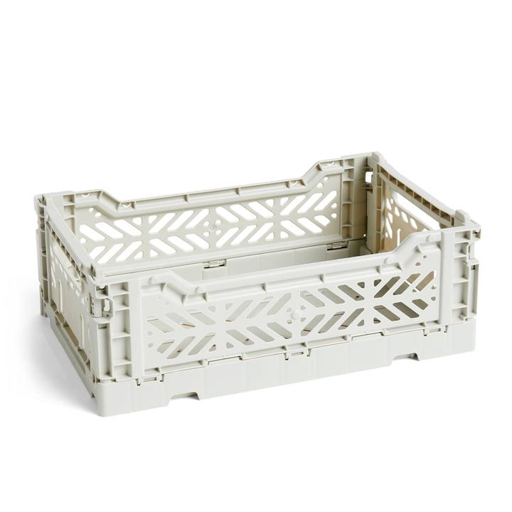 Colour Crate Korb S, 26,5 x 17 cm von Hay in hellgrau
