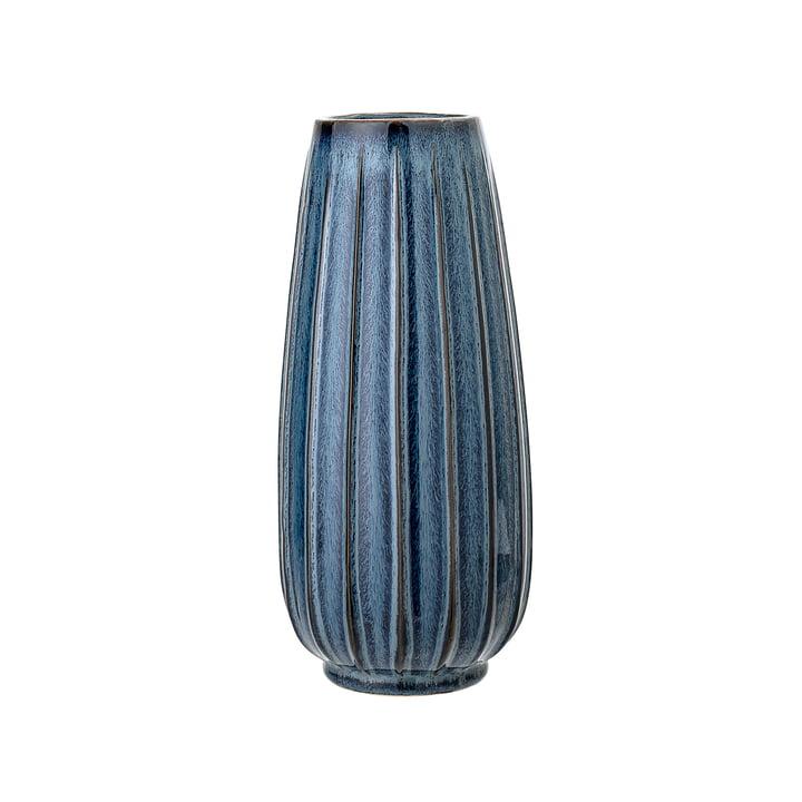 Steinzeu Vase Ø 14 x H 30 cm von Bloomingville in blau