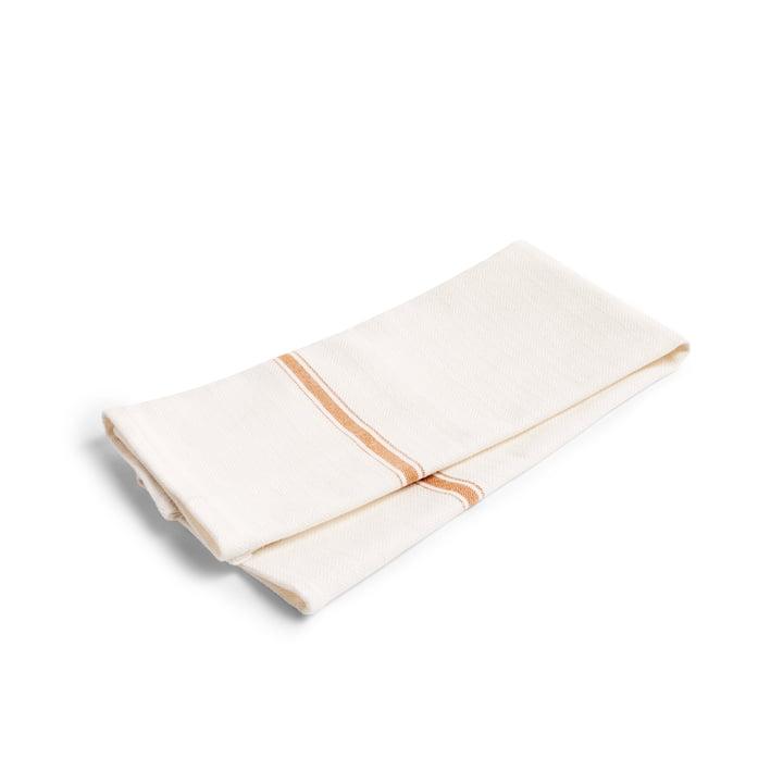 Simple Stripe Geschirrtuch (2er-Set) von Hay in braun