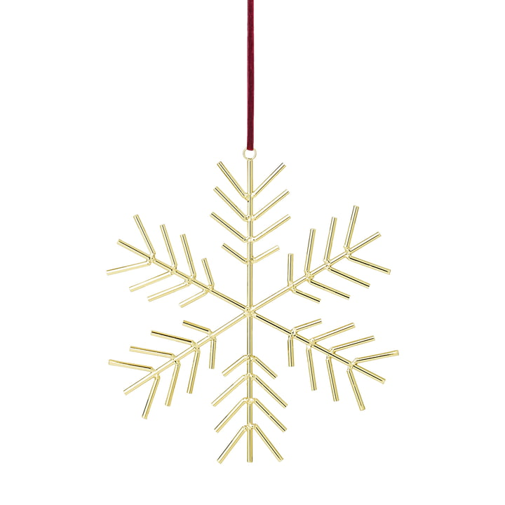 Schneeflocken-Ornament H 32,5 x W 31 cm von Bloomingville in gold