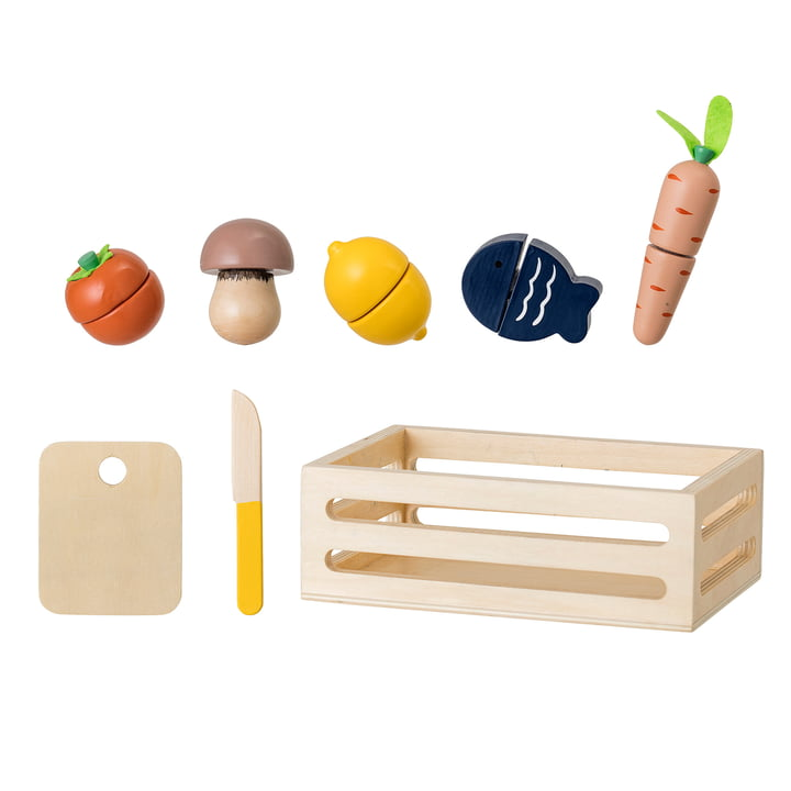 Bloomingville - Spielzeug Gemüsekiste, bunt (8-teilig)