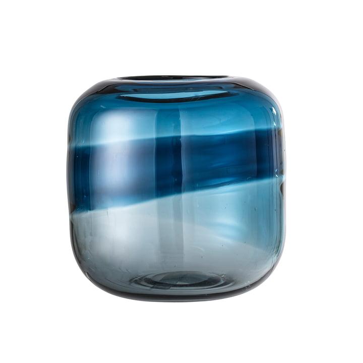 Vase mit Farbverlauf von Bloomingville - Ø 16 x H 16,5 cm in blau