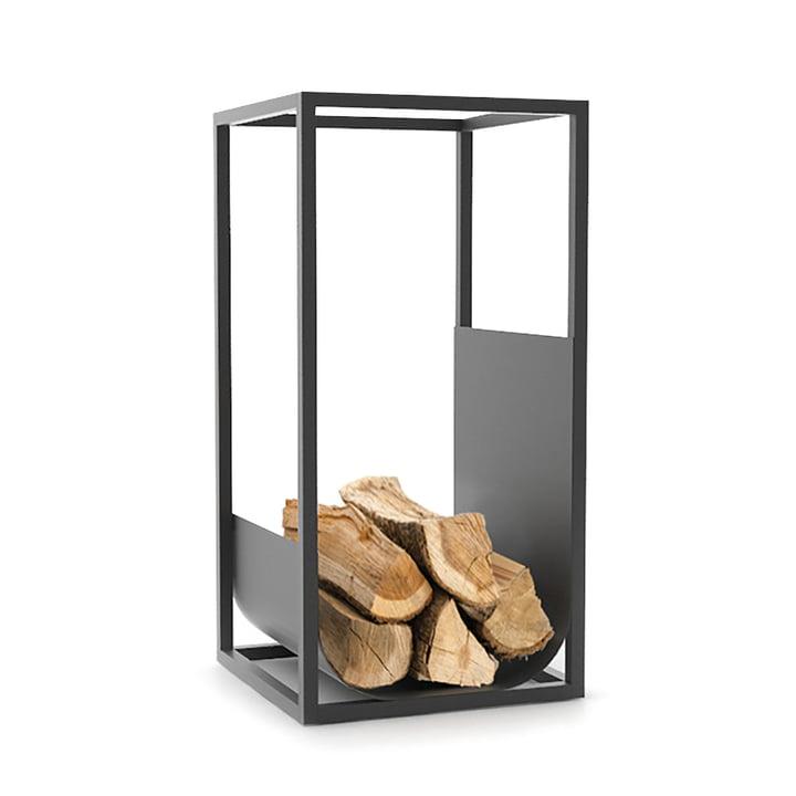 Cube Brennholzregal in schwarz von Conmoto