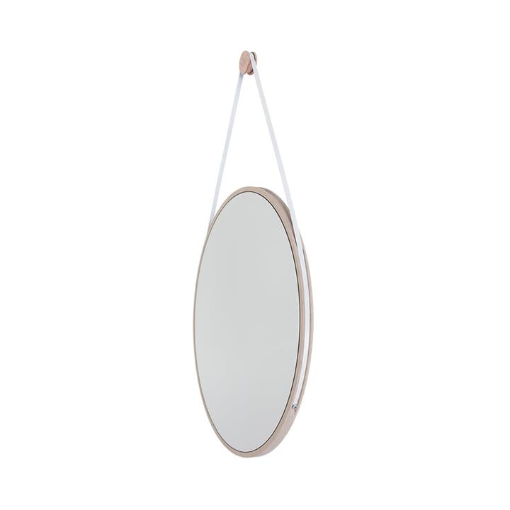 Schneider Spiegel von Objekte unserer Tage - 85 x 55 cm, Esche geölt / Stahlband weiss