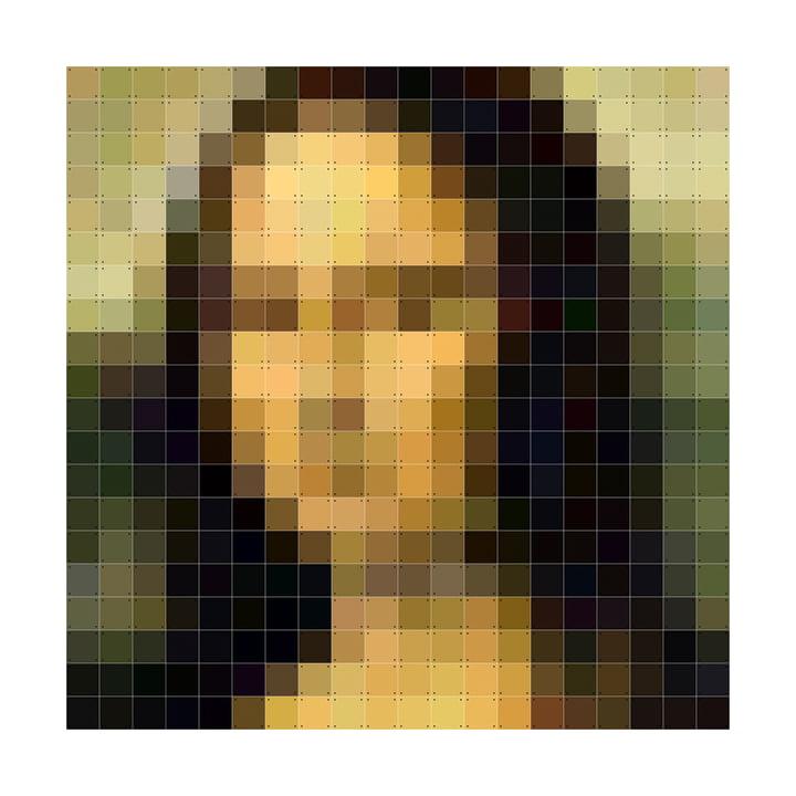 Mona Lisa (Pixel) 200 x 200 cm von IXXI