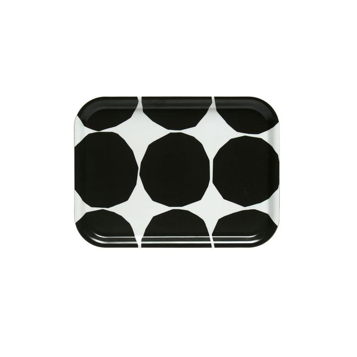 Kivet Tablett 27 x 20 cm von Marimekko in weiss / schwarz
