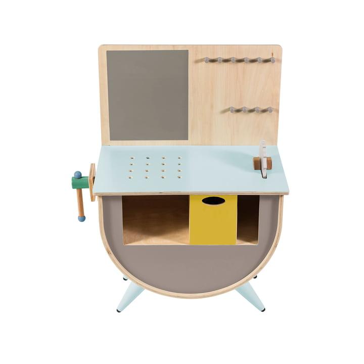 Spielzeug-Werkbank von Sebra in warm grey