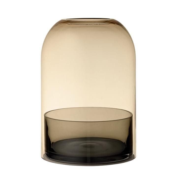 Tota Windlicht, Ø 16,2 x H 23 cm, schwarz / amber von AYTM