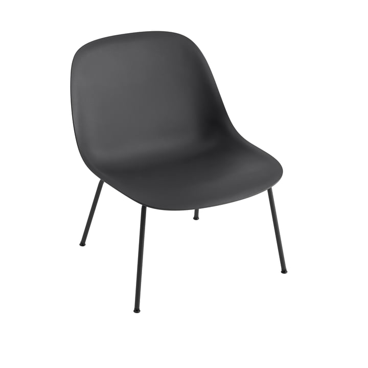 Fiber Lounge Chair Tube Base in schwarz von Muuto