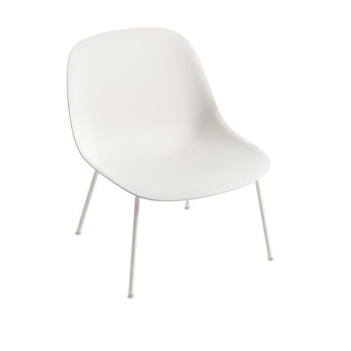 Fiber Lounge ChairTube Base in weiss von Muuto