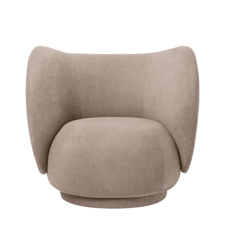 Rico Lounge Chair, Bouclé sand von ferm Living