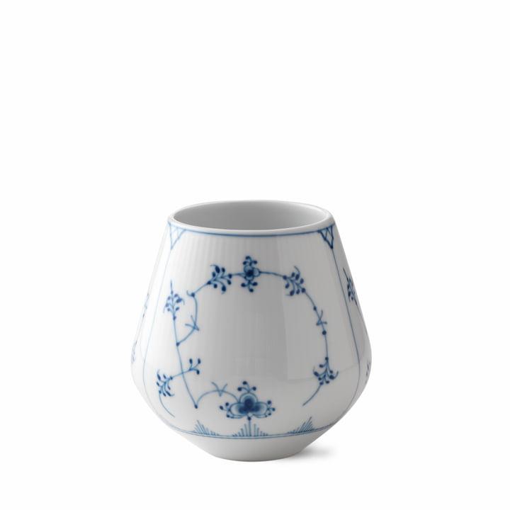 Musselmalet Gerippt Vase klein H 12 cm von Royal Copenhagen