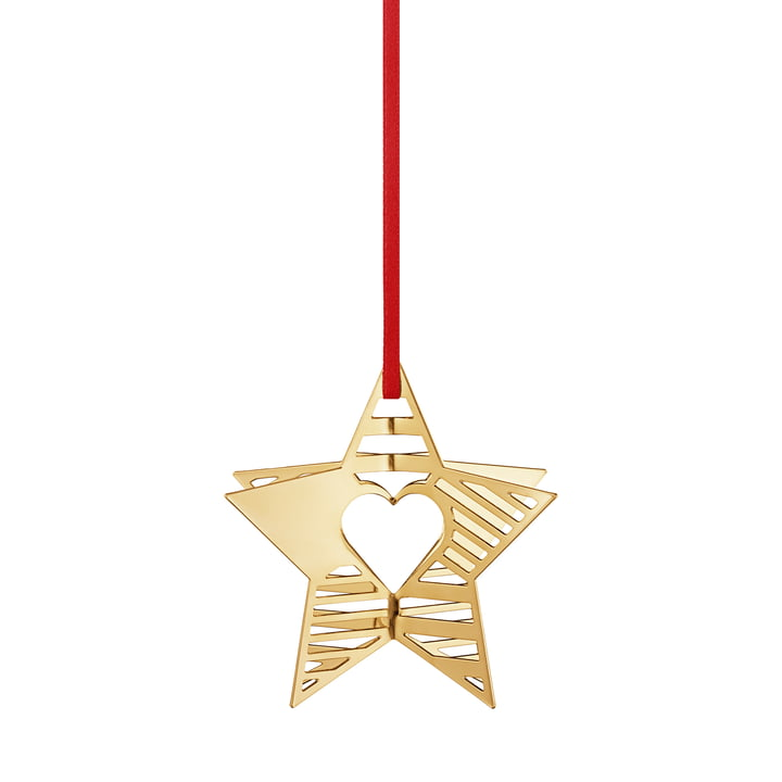 Holiday Ornament 2019 Stern, gold von Georg Jensen