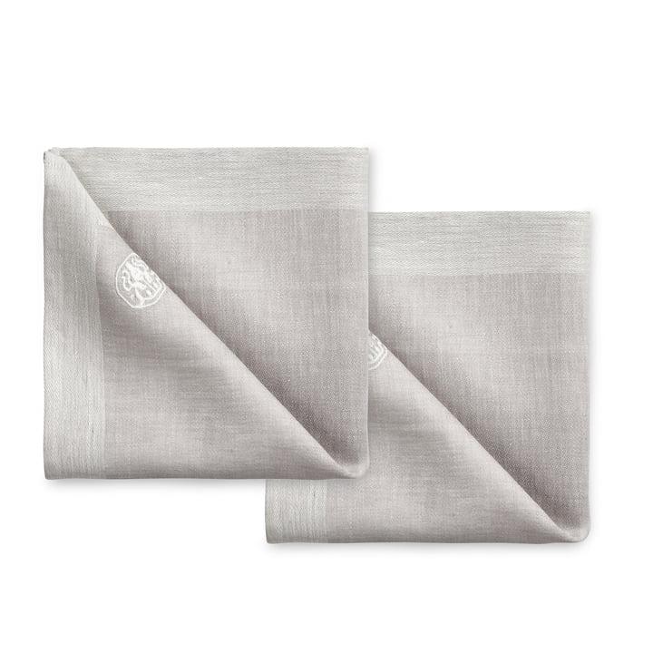 Plain Stoffservietten 45 x 45 cm (2er-Set) von Georg Jensen Damask in grau