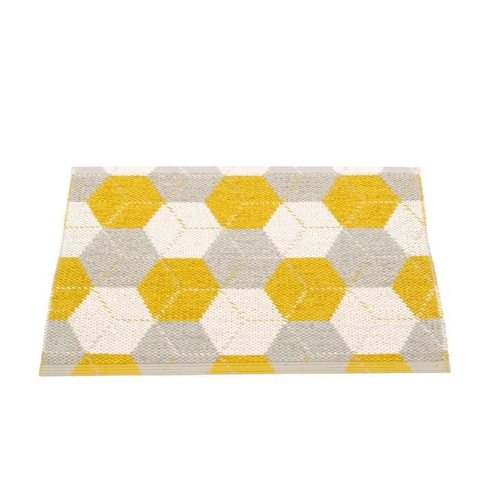 Trip Wendeteppich, 70 x 50 cm in mustard / linen / vanilla von Pappelina