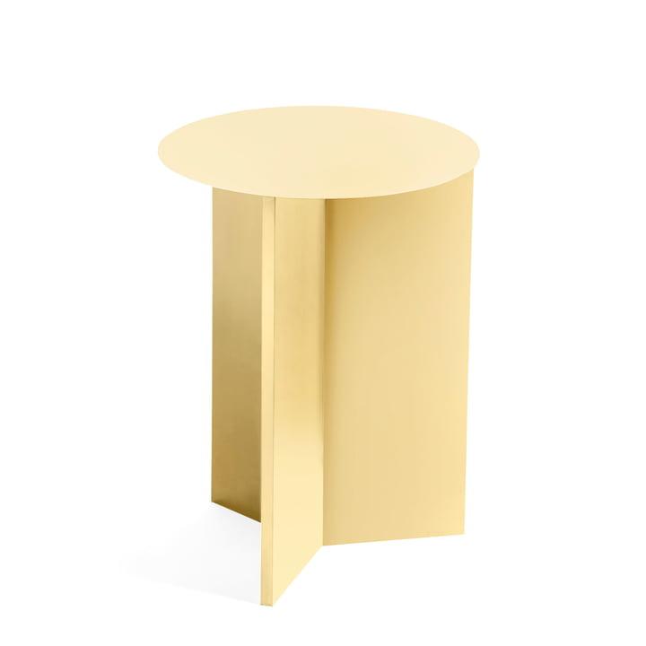 Slit Table High, Ø 35 x 47 cm von Hay in hellgelb