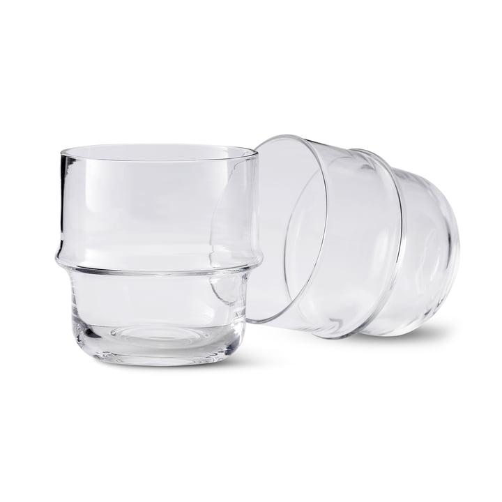 Unda Glas (2er-Set) in klar von Design House Stockholm