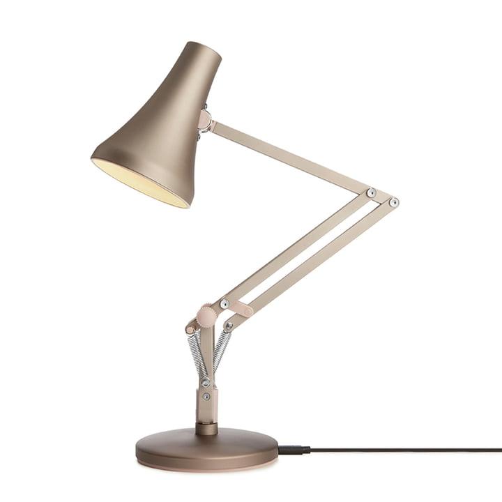 90 Mini Mini LED-Tischleuchte von Anglepoise in warm silver / blush