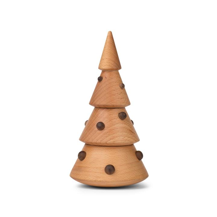 Weihnachtsbaum Dekofigur in Walnuss / Buche von Spring Copenhagen