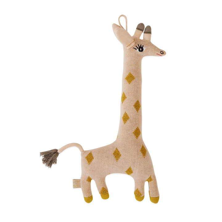 Strick-Kuscheltier Baby Giraffe Guggi von OYOY