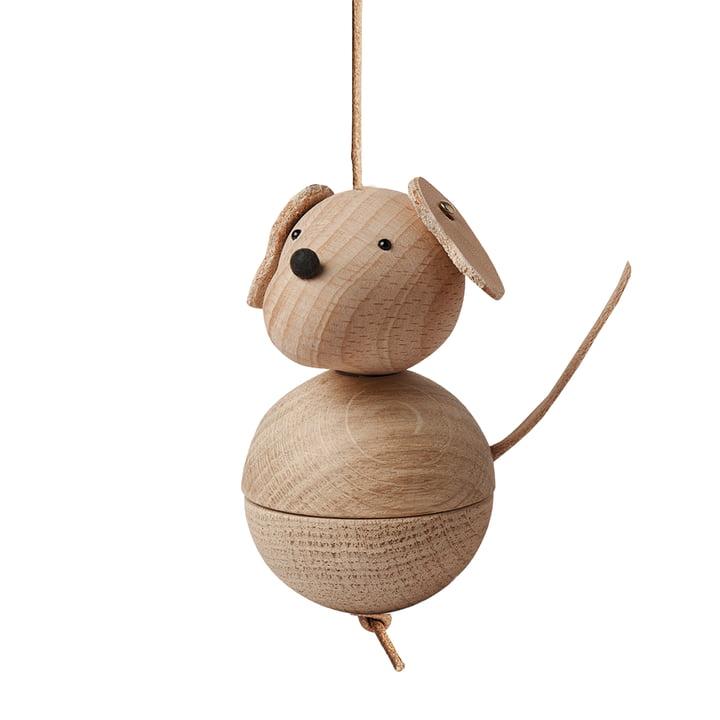 Holzfigur Leika Hund von OYOY aus Eiche / Buche