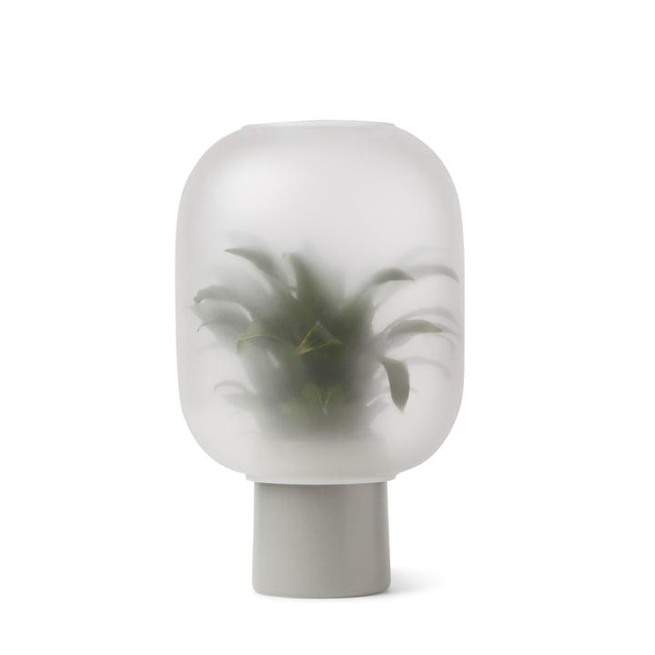 Nebl Vase large, Ø 24,5 x H 30 cm in grau von Gejst