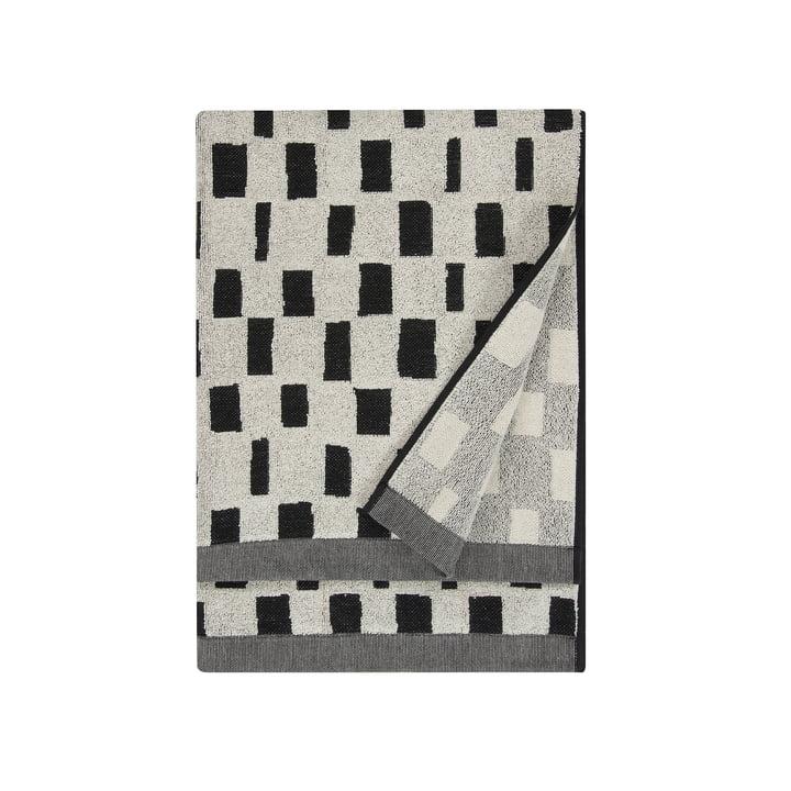 Iso Noppa Badetuch 75 x 150 cm von Marimekko in off-white / schwarz