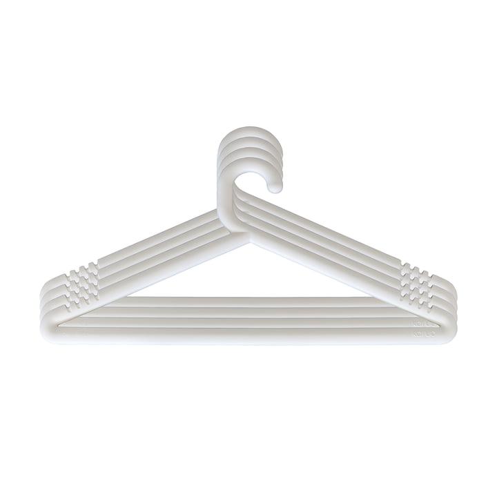 Hongi Kleiderbügel in weiss (4er-Set) von Karup