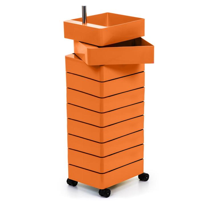 360° Container 10 Fächer in orange von Magis