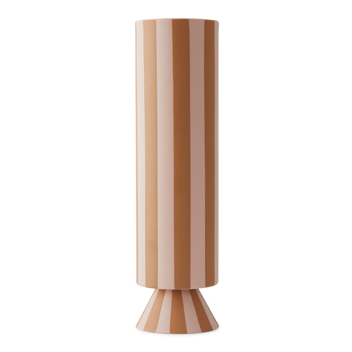 Toppu Vase Ø 8,5 x H 31 cm von OYOY in rose / caramel
