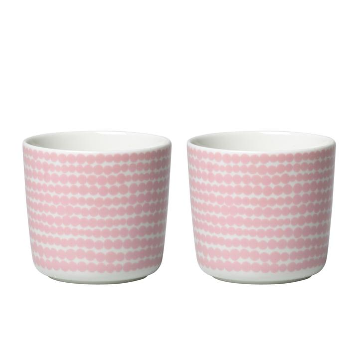 Oiva Siirtolapuutarha Becher (2er-Set) 200 ml von Marimekko in weiss / rosa