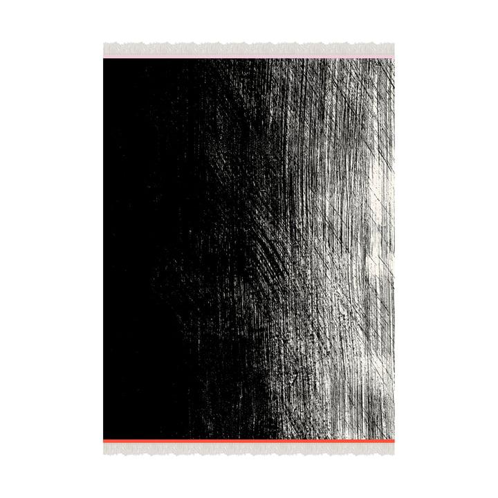 Kuiskaus Wolldecke 140 x 180 cm von Marimekko in schwarz / weiss / rot