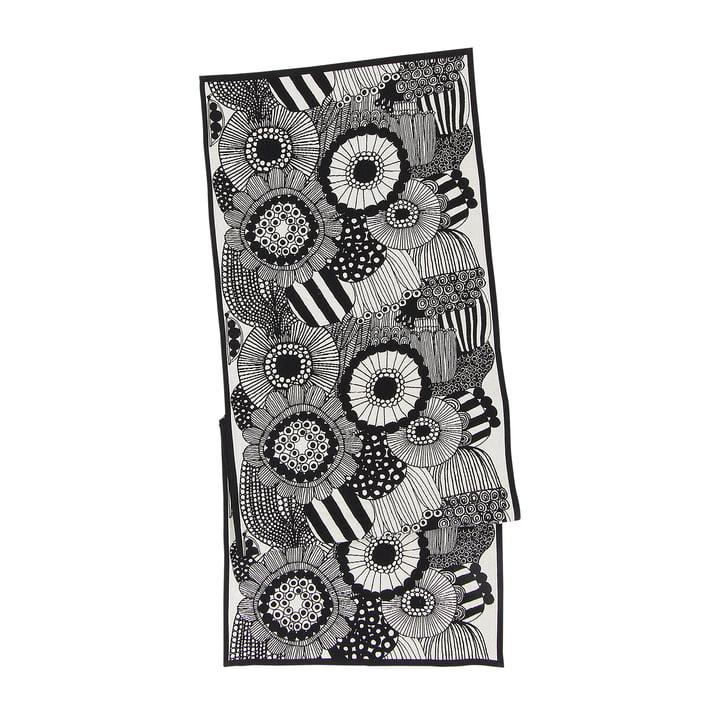 Pieni Siirtolapuutarha Tischläufer 47 x 150 cm von Marimekko in schwarz / weiss