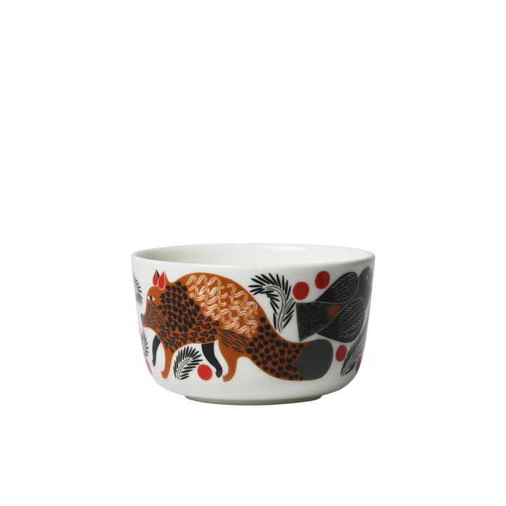 Oiva Ketunmarja Schale 250 ml von Marimekko in weiss / braun / schwarz