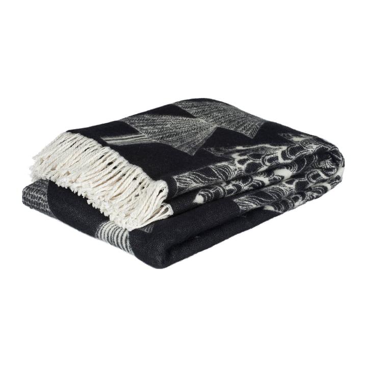 Kuusikossa Wolldecke 130 x 170 cm von Marimekko in schwarz / weiss