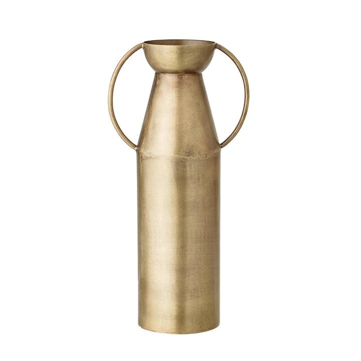 Vase mit Henkeln H 24 cm von Bloomingville in Messing