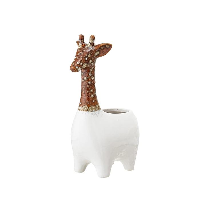 Steingut Übertopf Giraffe von Bloomingville in braun / weiss