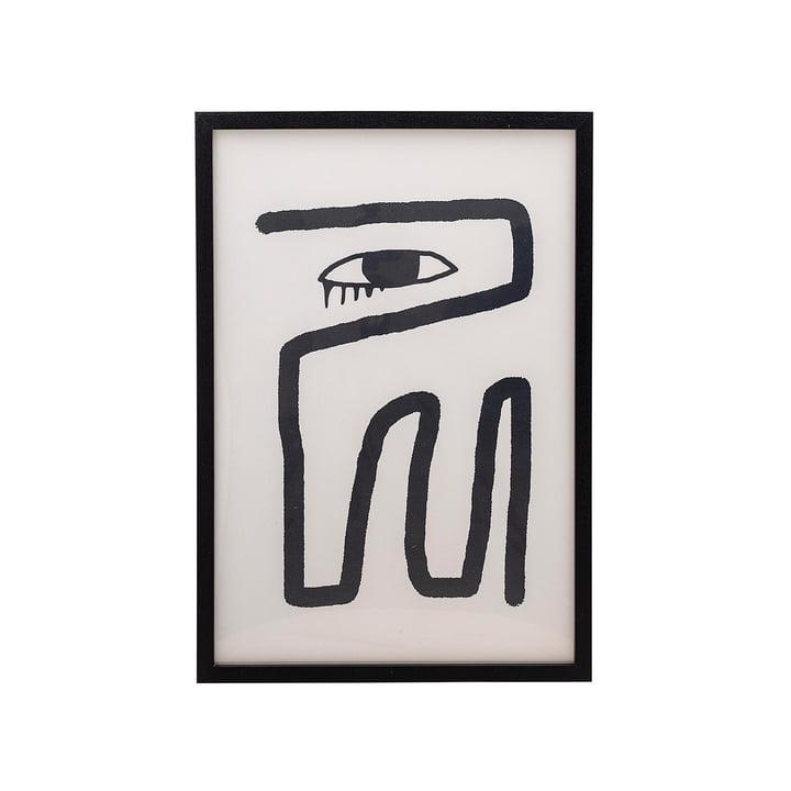 Gerahmtes Poster 45 x 65 cm von Bloomingville schwarz / weiss