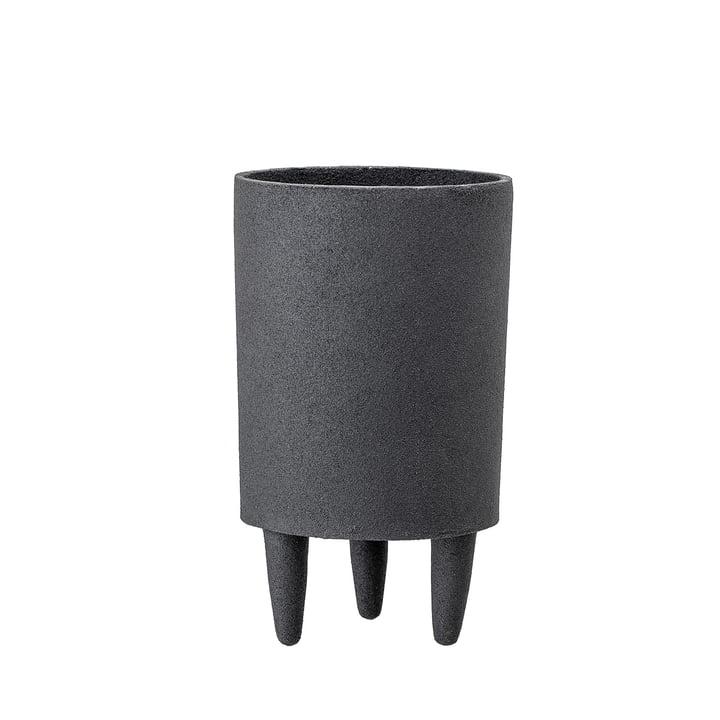 Aluminium-Pflanztopf mit Füssen Ø 10 x H 18 cm von Bloomingville in schwarz