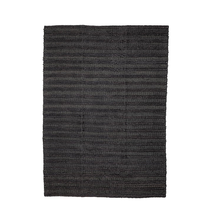 Naturfaser Teppich 210 x 150 cm von Bloomingville in schwarz