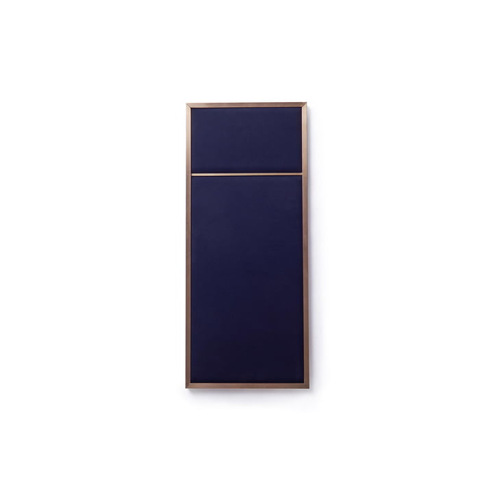 Nouveau Pinnwand S, 62,3 x 27,6 cm, Messing / navy blue von Please wait to be seated