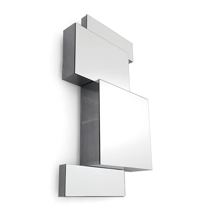 Ba.Belle Spiegelschrank, H 35 cm in Edelstahl von Opinion Ciatti