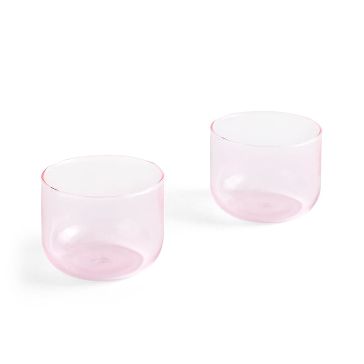 Tint Trinkglas 200 ml in rosa (2er-Set) von Hay
